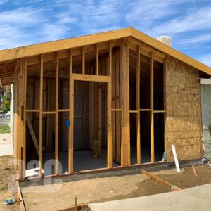start of ADU construction
