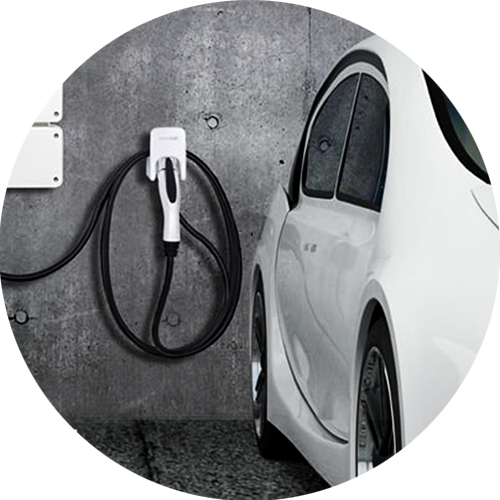electric car parked near charger