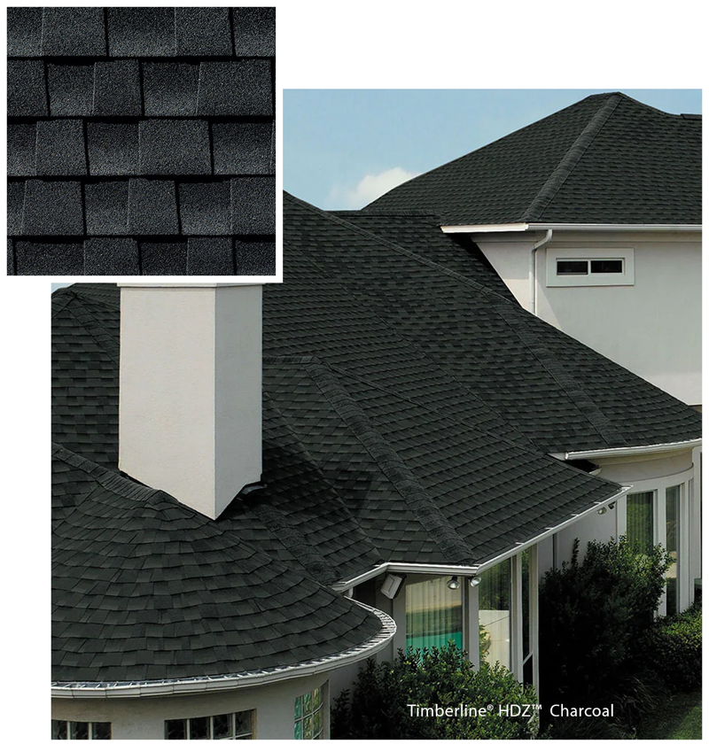 charcoal roof house
